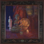 "Peter Adams' Gold Medal winning painting, ""Prajnaparamita, Perfection of Wisdom"""