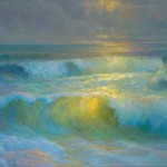 """Peter Adams' painting, """"Force of Light"""" was exhibited at """"On Location in Malibu 2006 by the California Art Club"""" Exhibition"""