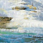"""Peter Adams' painting Minerva Terrace was featured in the exhibition """"Drawn to Yellowstone: Artists in America's First National Park."""""""