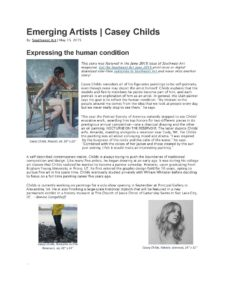 American Legacy Fine Arts presents Casey Childs in Southwest Art Magazine, May 2015.