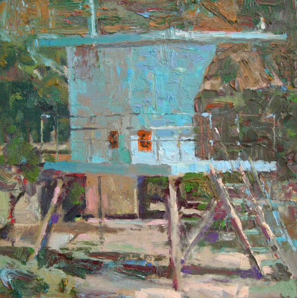 """American Legacy Fine Arts presents """"Closed for the Season"""" a painting by David Gallup."""