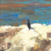 """American Legacy Fine Arts presents """"Sunny Day at Cormorant Rock"""" a painting by David Gallup."""