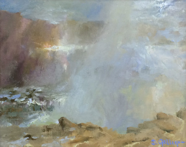 """American Legacy Fine Arts presents """"Light Through the Veil; Leo Carrillo State Beach"""" a painting by David Gallup."""