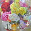 """American Legacy Fine Arts presents """"Roses with Goldfish and Koi"""" a painting by David Gallup."""