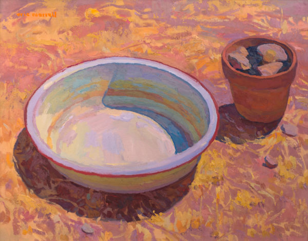 """American Legacy Fine Arts presents """"No Hint of a Breeze"""" a painting by Eric Merrell."""