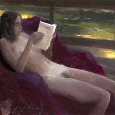 """American Legacy Fine Arts presents """"Tuesday Morning"""" a painting by Jeremy Lipking."""