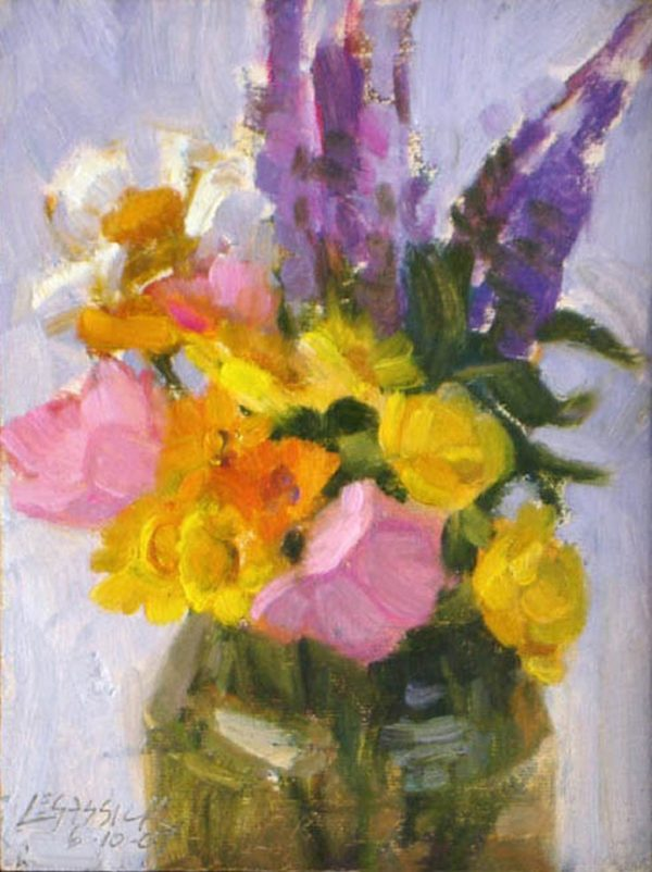 """American Legacy Fine Arts presents """"First Summer Bouquet"""" a painting by Jean LeGassick."""