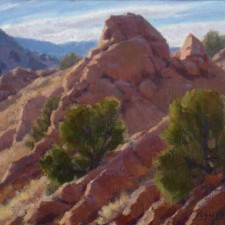 """American Legacy Fine Arts presents """"Steep Comstock Slopes"""" a painting by Jean LeGassick."""