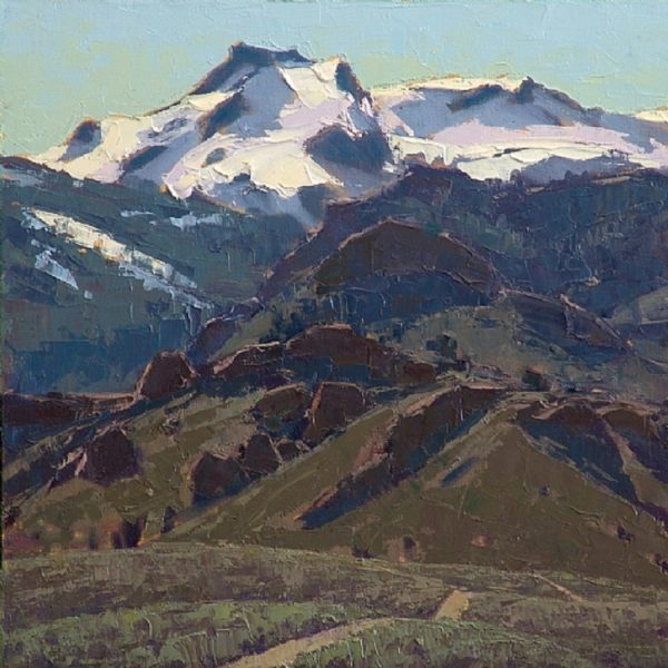 """American Legacy Fine Arts presents """"Warner Mountains Spring"""" a painting by Jean LeGassick."""