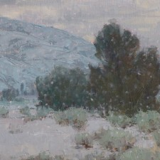 """American Legacy Fine Arts presents """"Winter Quiet"""" a painting by Jean LeGassick."""