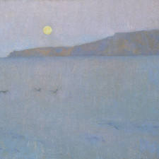 "American Legacy Fine Arts presents ""Moonrise, Santa Rosa Island"" a painting by Jennifer Moses."