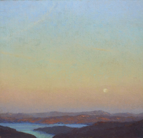 """American Legacy Fine Arts presents """"Veiled Moon"""" a painting by Jennifer Moses."""