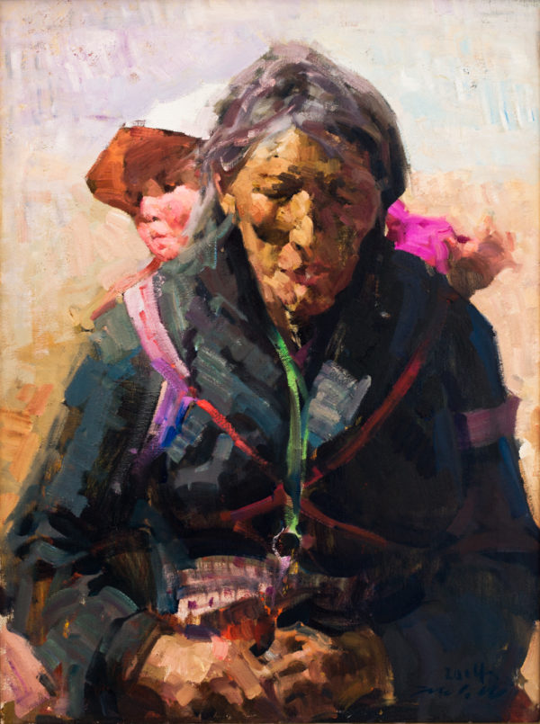 """American Legacy Fine Arts presents """"Pilgramage"""" a painting by Jove Wang."""
