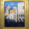 """American Legacy Fine Arts presents """"Summer Sunset at Piazza San Marco, Venice"""" a painting by Jove Wang."""