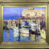 """American Legacy Fine Arts presents """"Cannery Row, Monterey, California"""" a painting by Jove Wang."""