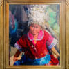 """American Legacy Fine Arts presents """"Young Girl from Guizhou"""" a painting by Jove Wang."""
