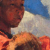 "American Legacy Fine Arts presents ""Tibetan Shepherdess"" a painting by Jove Wang."