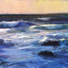 """American Legacy Fine Arts presents """"Windy Afternoon at Asilomar Beach, Monterey"""" a painting by Peter Adams."""
