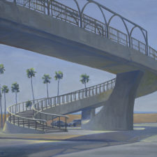 """American Legacy Fine Arts presents """"Pedestrian Walkway, PCH"""" a painting by Tony Peters."""