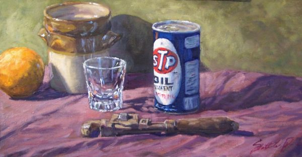 """American Legacy Fine Arts presents """"Old Wrench"""" a painting by Scott W. Prior."""