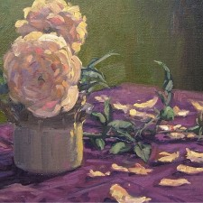 """American Legacy Fine Arts presents """"Pink Petals"""" a painting by Scott W. Prior"""