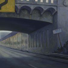 "American Legacy Fine Arts presents ""110 Freeway Bridge"" a painting by Tony Peters."