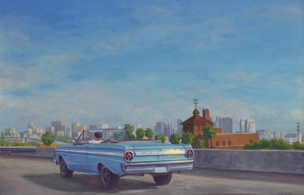 """American Legacy Fine Arts presents """"Ford Falcon"""" a painting by Tony Peters."""