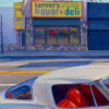 """American Legacy Fine Arts presents """"Corvette on Sunset"""" a painting by Tony Peters."""