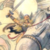 """American Legacy Fine Arts presents """"Valkyrie's Battle Song"""" a painting by William Stout."""