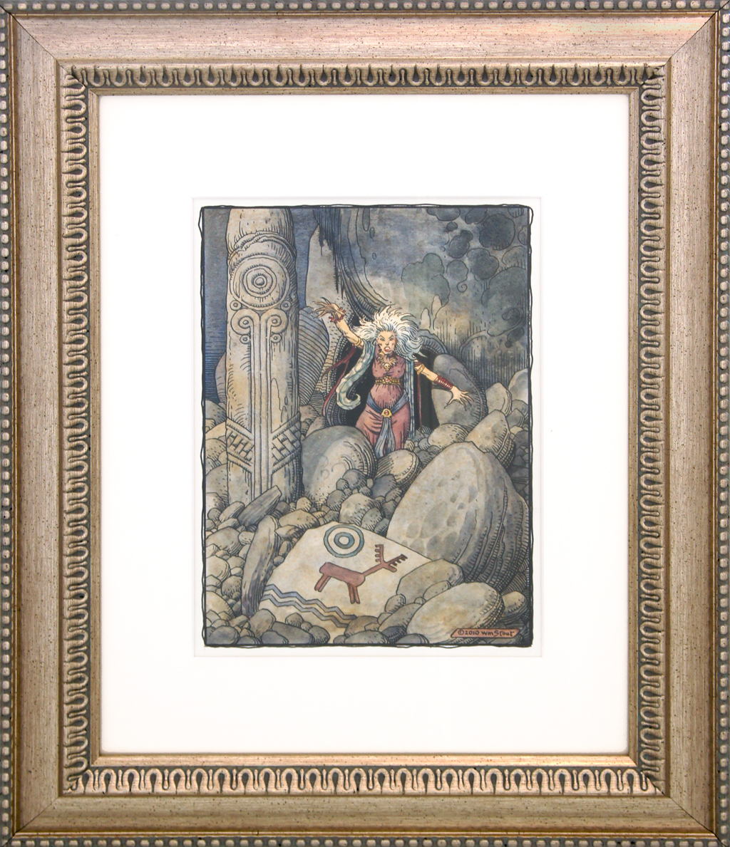 """American Legacy Fine Arts presents """"Erda"""" a painting by William Stout."""