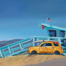"""American Legacy Fine Arts presents """"Station Aerie"""" a painting by William Stout."""
