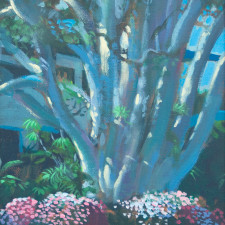 """American Legacy Fine Arts presents """"Majestic Ficus"""" a painting by William Stout."""