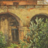 """American Legacy Fine Arts presents """"San Juan Capistrano Mission"""" a painting by William Stout."""