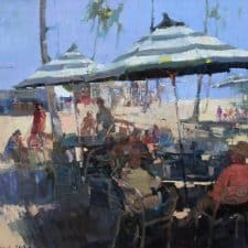 """American Legacy Fine Arts presents """"After Lunch"""" a painting by Jove Wang."""