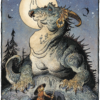 """American Legacy Fine Arts presents """"Siegfried and Fafnir"""" a painting by Williams Stout"""