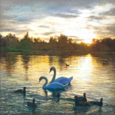 """American Legacy Fine Arts presents """"Sweethearts"""" a painting by Alexander V. Orlov."""
