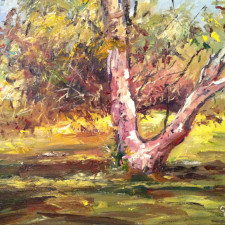 """American Legacy Fine Arts presents """"Franklin Canyon Tree"""" a painting by George Gallo."""