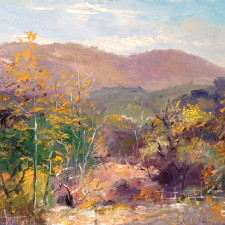 """American Legacy Fine Arts presents """"Late Fall off Mullholland Drive"""" a painting by George Gallo."""