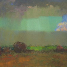 """American Legacy Fine Arts presents """"California Stormy Sky"""" a painting by Theodore N. Lukits."""