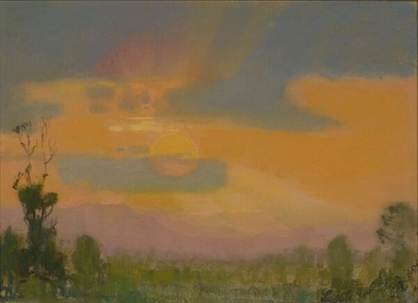 """American Legacy Fine Arts presents, """"The Last Rays"""" a painting by Theodore N. Lukits."""