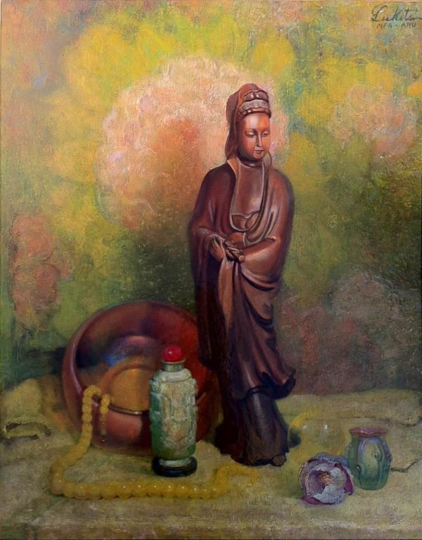"""American Legacy Fine Arts presents """"Meditation"""", c, 1944, a painting by Theodore N. Lukits (1897-1992)"""
