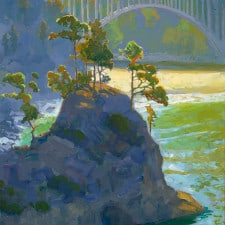"""American Legacy Fine Arts presents """"Summer Morning at Russian Gulch"""" a painting by Peter Adams"""