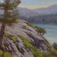 """American Legacy Fine Arts presents """"Above Emerald Bay"""" a painting by Jean LeGassick."""