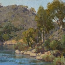 """American Legacy Fine Arts presents """"At Dixon Lake"""" a painting by Jean LeGassick."""