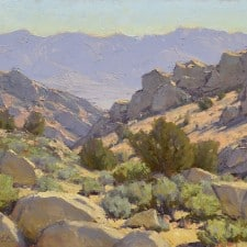 """American Legacy Fine Arts presents """"Buttermilk Boulder Country"""" a painting by Jean LeGassick."""