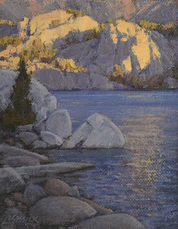 """American Legacy Fine Arts presents """"Study for What a Little Sunlight Will Do"""" a painting by Jean Le Gassick."""
