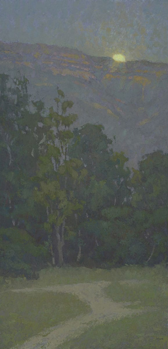 """American Legacy Fine Arts presents, """"Moon's Nest"""" a painting by Jennifer Moses."""