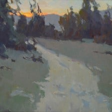 """American Legacy Fine Arts presents """"The Gloaming"""" a painting by Jennifer Moses."""
