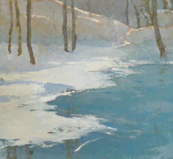 "American Legacy Fine Arts presents ""Winter Abundance"" a painting by Jennifer Moses."