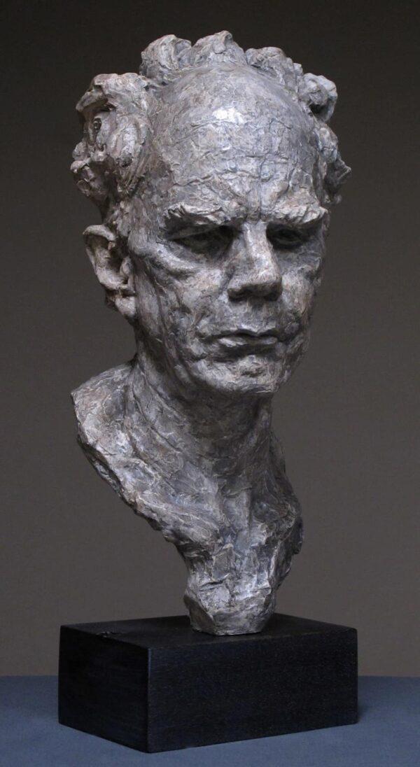 """American Legacy Fine Arts presents """"Portrait Study I, Mr. Koch"""" a sculpture by Alicia Ponzio."""